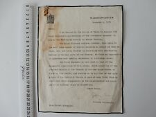 LETTER ST JAMES'S PALACE SIR GODFREY THOMAS FOR PRINCE OF WALES/EDWARD VIII 1935