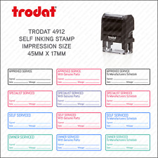 More details for self inking garage mechanic home service rubber stamp - 45 x 17mm - trodat 4912