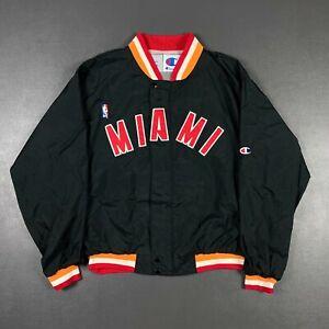 100% Authentic Miami Heat Vintage Champion Warm Up Jacket Size L Mens