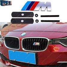 1x M Style Silver Front Grille Metal Badge Emblem for ALL BMW 3 4 5 X series etc