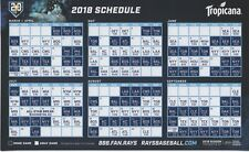 2018 Tampa Bay Rays 20th Anniversary Magnet Schedule SGA