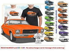 CLASSIC 71-74 HQ GTS MONARO COUPE ILLUSTRATED T-SHIRT MUSCLE RETRO SPORTS