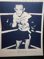 Carmen Basilio Autographed / Signed Black & White Boxing 8x10 Photo