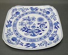 Hutschenreuther, Porzellan, Servierplatte , Blau  Zwiebelmuster, 21,5 x 21,5 cm