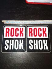 ROCK SHOX Sticker Aufkleber 2 Stück  6,5 cm x 7,5 cm neu