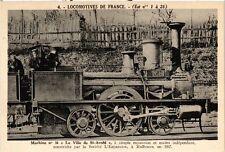 """CPA   Machine no 16 """"La Ville de St-Avold"""" á simple expansion et essieu (454686)"""