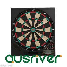 "New Large 16"" Electronic Plastic Dart Board with 10 Darts LED Scoring Portreath2"