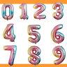 Folienballon Zahlen Regenbogen bunt 100 cm Luftballon Helium Ballon Geburtstag