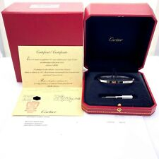 Cartier LOVE Bangle Small 18 kt White Gold Certificate and Boxes Full Set