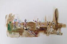 Cara Costea philippe encre et gouache sur papier signée datée 1960 art danse