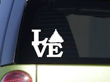 "CHristmas tree Love 6"" STICKER *F133* DECAL Jesus Christian God holiday santa"