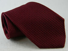 vtg Brooks Brothers maroon 100% silk grenadine garza grossa tie made in USA