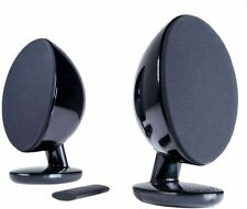 KEF EGG Versatile Desktop Speaker System w/DAC- Gloss Black (Wired & Bluetooth)