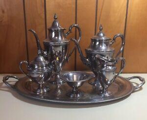 Vintage Castleton International Silver Silverplate 6 Piece Tea Set Discontinued