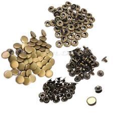 50 Pcs Bronze Metal Sewing Press Studs Buttons Snap Fasteners Diameter 12mm