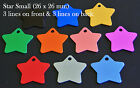 Aluminium STAR Pet ID Tag With Personalised Engraving, Dog, Cat, Collar Tags!