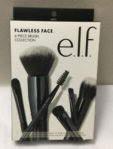 NEW e.l.f. ELF Cosmetics Flawless Face 6 Piece Brush Collection Make Up Brushes