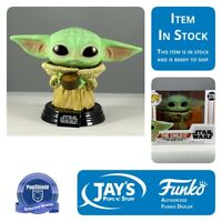 Funko POP Star Wars The Mandalorian The Child with Cup PopShield In Stock