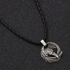 1Pc Vintage Norse Vikings Odin's Ravens Symbol Pendant Necklace Jewelry Charm