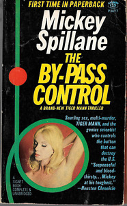 Mickey Spillane: By-Pass Control Tiger Mann PB 1st Print 1967 Girle Cover Signet