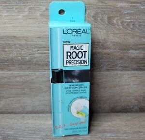L'oreal Magic Root Precision Temporary Gray Touch Up Concealer # 1 Black SEALED