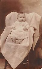 """Clifford Blankenship"" Child Baby Boy AZO Real Photo RP Postcard"