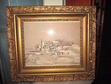 """Robert Fabe Beautiful Framed Print/lithograph artist signed """"Winter Day"""""""
