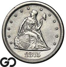 1875-S Twenty Cent Piece, Choice AU++ Collector Coin