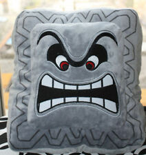 Super Mario Bros Figure Cushion Pillow - 9in Thwomp Dossun Plush Doll Size M#A