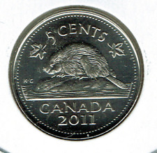 2011 Canadian Brilliant Uncirculated Elizabeth II Five Cent Coin!