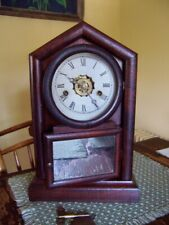 Antique Ansonia Pendulum Mantel Shelf alarm Clock gothic running condition
