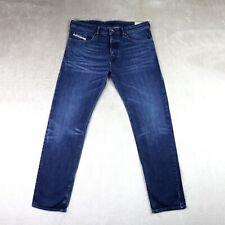 Mens DIESEL BUSTER Jeans slim fit Tapered leg dark blue size W36 L32 Denim pants