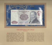 Most Treasured Banknotes Chile 1981 100 Pesos P 152b UNC Prefix B ERROR