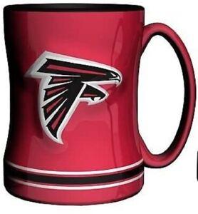 Atlanta Falcons 14 oz Team Color Sculpted Logo Relief Coffee Mug  - NEW