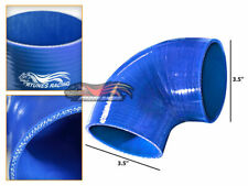 "BLUE Elbow 3.5"" 89mm 4-ply Silicone Coupler Hose Turbo Intake Intercooler Chev2"