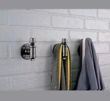 LDR Industrial Pipe Décor Robe Towel Coat Keys Hook Set mounting hardware Black