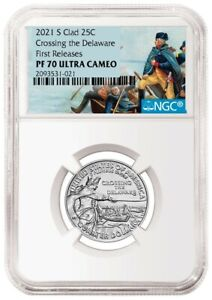 2021 S PROOF George Washington Crossing the Delaware NGC PF70