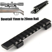 11mm Dovetail to 20mm Weaver Picatinny Extension Adapter Riser Rail Mount US