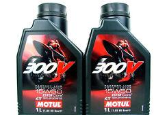 2x 1 L Motul 300V 15W50 4T Huile de moto 15W-50 HUILE 4-Takt Racing Road Racing