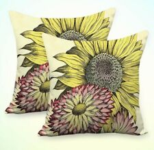 Us Seller-Set of 2 pillow covers decorative sunflower floral cushion covers