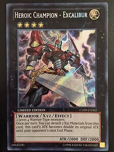 YUGIOH!! Heroischer Champion - Excalibur CT09-EN002! Secret Rare! Near Mint!