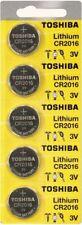5 x New Original Toshiba CR2016 CR 2016 3V LITHIUM BATTERY BR2016 DL2016 Watch