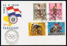 MayfairStamps Paraguay 1988 Seoul Summer Olympics Combo First Day Cover WWG25657