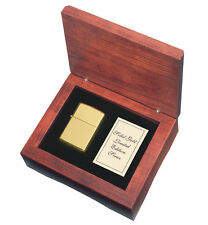 Zippo 18kt. Gold Lighter With High Polished Finish, Item 195, New In Wooden Box