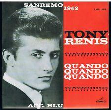 "TONY RENIS QUANDO QUANDO QUANDO ACC. BLU 7"" 45 GIRI COME NUOVO"
