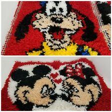 Latch Hook Rug Kit Disney Goofy Mickey Minnie Mouse Love Heart