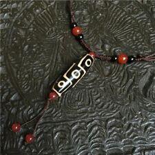 Nine Eye Tibet Dzi Pendant/Necklace in Velvet Pouch/FREE P&P/UK STOCK