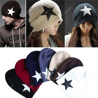 Hot Men Women Xmas Warm Winter Popular Unisex Star Cap Beanie Knit Ski Hat 18