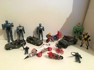 Lot de jouets : Spiderman / Marvel Universe / Corgi / Robocop L3