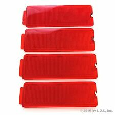 4 Fits Ford 99-07 F250 SuperDuty Front or Rear Door Reflectors F350 F450 Red
